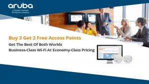 HPe Aruba Buy 3 Access Points get 2 Free