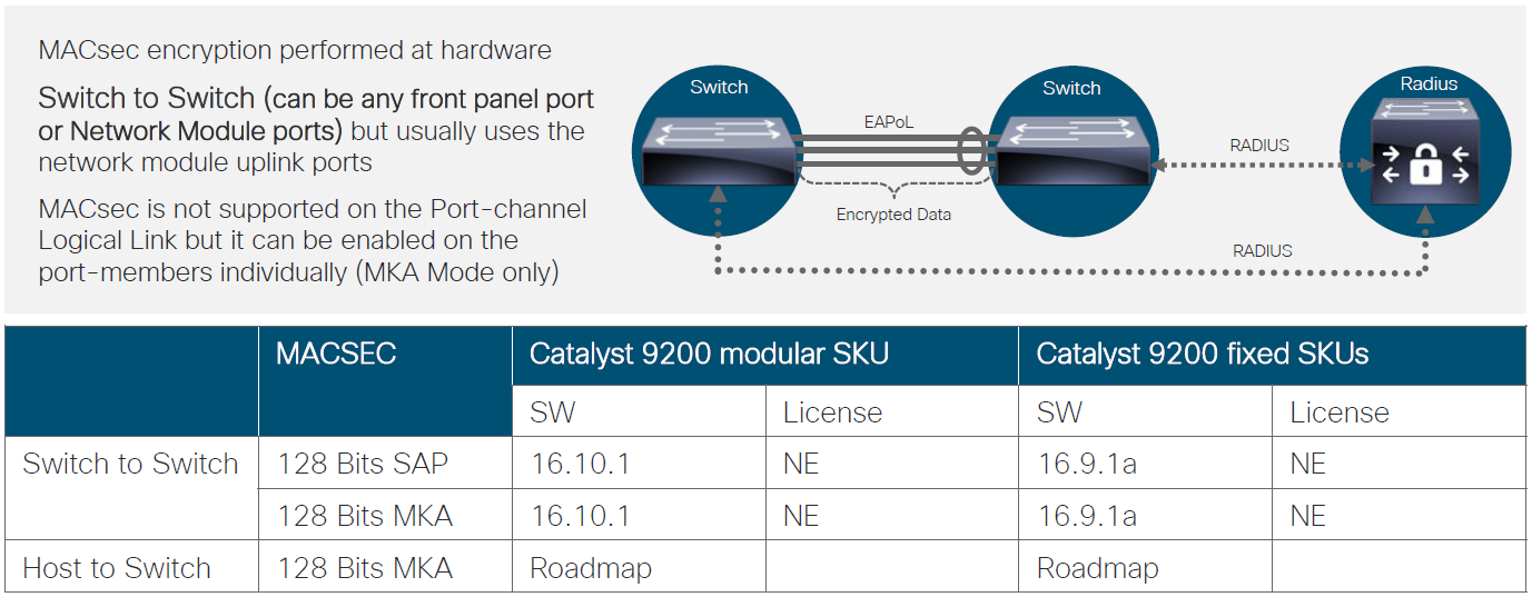 Cisco Catalyst 9200 Macsec 128