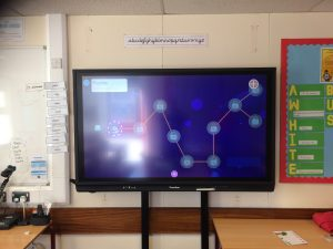 West Midlands Primary School AV Panel Upgrade Promethean V6 Electric Rise and Fall Wall Mount