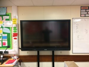 UK Primary School AV Panel Upgrade Promethean V6 Static Height Wall Mount