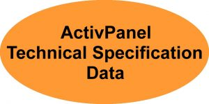 Promethean ActivPanel Technical Specification Data