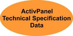 Promethean ActivPanel Technical Specification Data