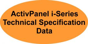 Promethean ActivPanel i Series Technical Specification Data