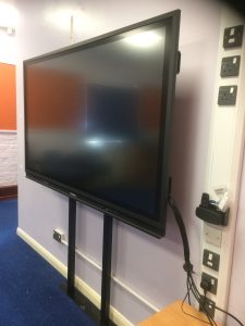 Promethean ActivPanel 75 inch with RA Studfix Mount, Prees Primary Installation
