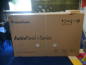 Promethean ActivPanel i-Series 65 inch box and Android OPS, Prees Primary School Stoneleigh Upgrade
