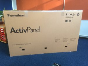 Promethean ActivPanel 75 inch box, Prees Primary School Upgrade