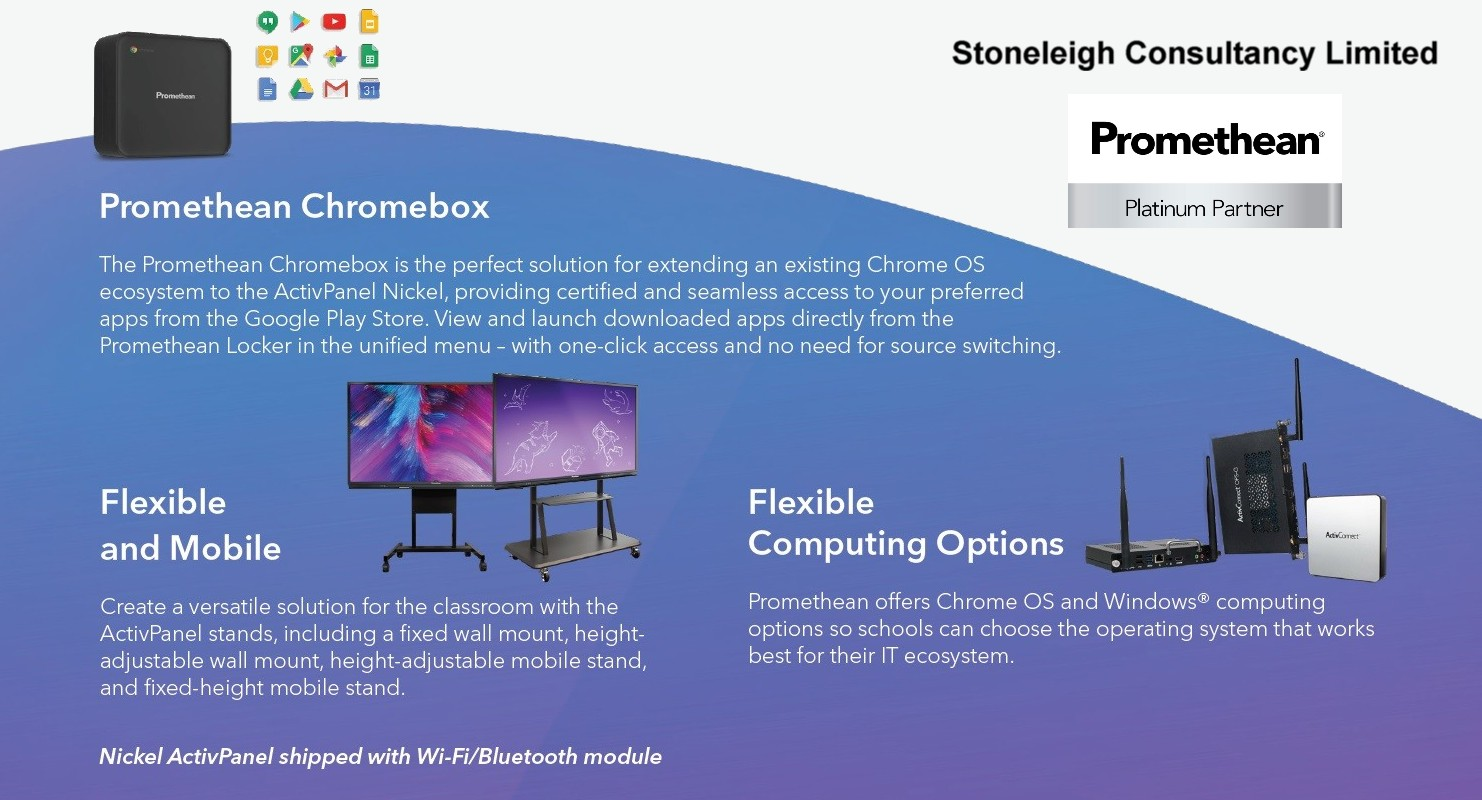 Promethean Elements ActivPanel Nickel Chromebox Accessories