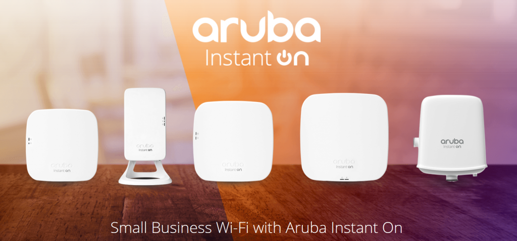 Aruba Instant On, Small business wi-fi access points.
