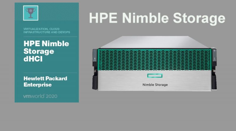 HPE Nimble Storage VMworld Winner 2020