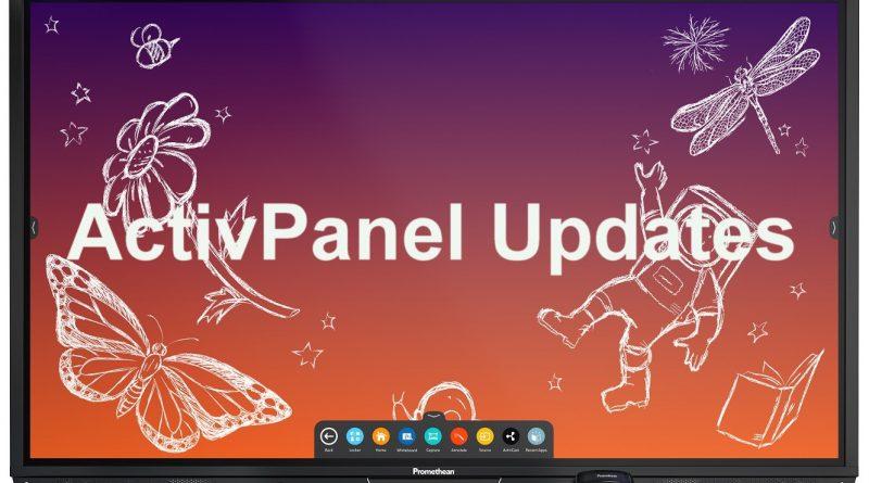 Promethean AP ActivPanel Updates. Firmware and Software Updates