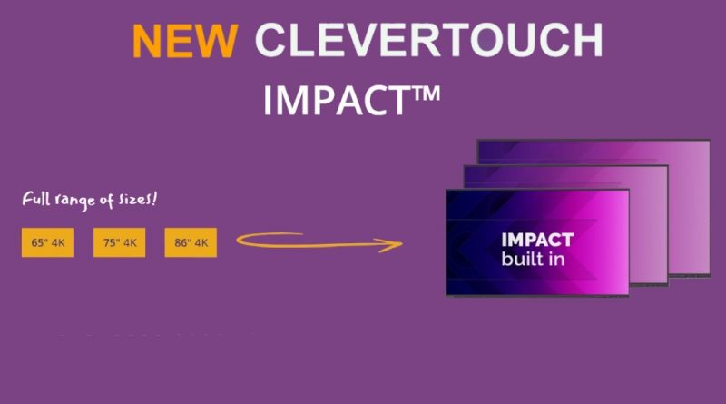 New Clevertouch impact interactive touchscreen Panels